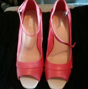 Mossimo Coral Open-Toe Heels W/Ankle Strap 7